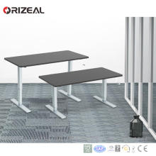 Hot selling Certified office furniture Manual Hand Crank height adjustable sit to stand computer table