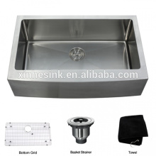 cUPC Stainless Steel Apron Front Farmhouse Kitchen Sink with Single Bowl