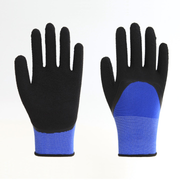 Polyester Liner Foam Latex Coating Working Gloves
