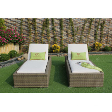 RABD-089 Simple design high quality Wicker rattan beach sun lounger Outdoor Furniture