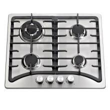 Soporte para pan de hierro fundido Cocina de gas incorporada con 4 quemadores