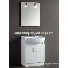 Free Standing white glossy paint Bathroom Furniture/cabinet/vanity