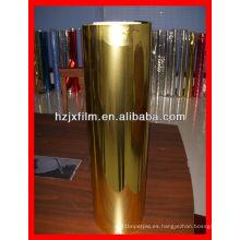 Película de poliéster de oro de 12 micras