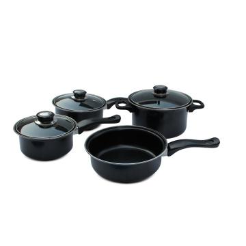 Home Basics Kochen 7 Stück Carbon Steel Kochgeschirr Set