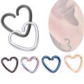 Oreille de coeur simple à la mode Daith Tragus Cartilage boucle d'oreille Titanium Piercing Ring