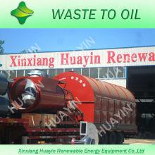 10 / 12T chatarra / plástico inútil / neumático a la línea diesel sin emisión y humo