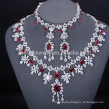 hot sale latest design garnet zc jewelry set