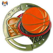 Medalha de esporte de basquete medalha de prêmio de metal