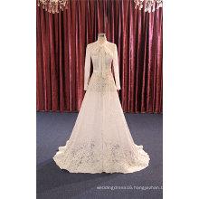 Long Sleeve Lace A Line Bridal Evening Wedding Dresses
