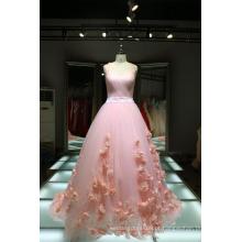 1A416 Lolita Flowers Pink Wedding Dress Fabricantes EUA Qualidade do vestido Imagem real