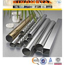 Tubulação decorativa de aço inoxidável soldada do polonês 200 # de ASTM A554 304