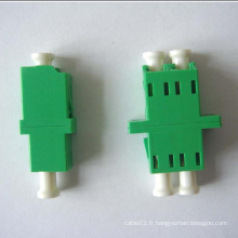 Adaptateur fibre optique duplex mono-mode LC / APC-LC / APC