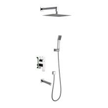 Multi-Function Bathroom In-Wall Chrome Shower Trim Sets