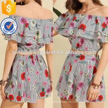 Top floral con capas flounce Top con pantalones cortos Fabricación al por mayor ropa de mujer de moda (TA4075SS)