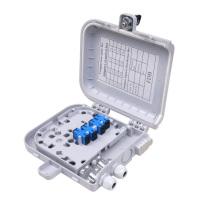 Vacío 4ports ftth caja de terminales de fibra óptica