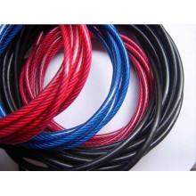 Rop de alambre de acero galvanizado recubierto de PVC