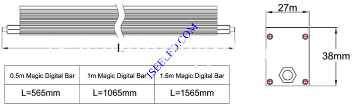 Magic LED Bar Light dimension