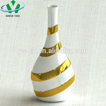 luxury golden hand painted ceramic vase for hotel decor