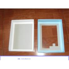 Embalaje de caja de camisa de papel corrugado con ventana transparente