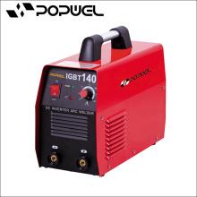 Popwel MMA máquina de soldadura IGBT 120 DC Inverter máquina de solda de arco vermelho impresso