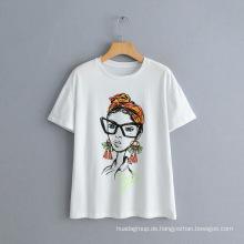 Neues Nordic Beauty Character bedrucktes Kurzarm-T-Shirt