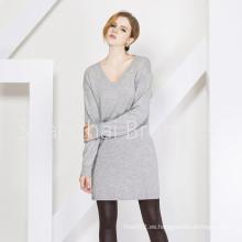 Señora Fashion Cashmere Dress Suéter 16brss110