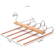 Functional Magic Pants Hangers Space Saving Closet Hangers 5 Layers