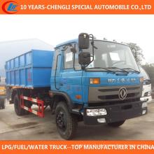 Caminhão de lixo hidráulico do sistema do elevador do gancho de 10cbm 12cbm