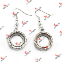 Crystal Pave Round Locket Earings for Fashion Lady Jewelry (LE132)