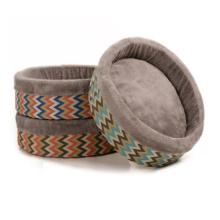 New round pet nest pillow top dog kennel