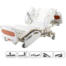 Equipo de hospital de cinco funciones Cama de hospital eléctrica de ICU ajustable