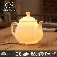 Lámpara de mesa de cerámica de la forma del pote del té chino de Morden en la promoción