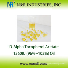 Reliable supplier Natural Vitamin E acetate (96-102%) Oil 1360IU