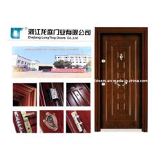 Puerta acorazada de madera de acero de estilo turco
