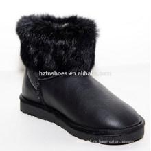 Neue Winter Dame flache Fuchs Pelz Schnee Stiefel für Mädchen