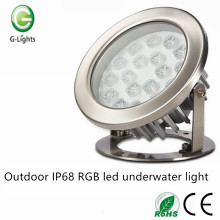Outdoor IP68 RGB ha condotto la luce subacquea