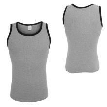 Camisolas de alças de alto desempenho de camisa cinza homens de compressão