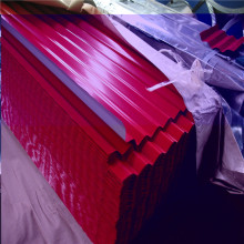 Telhado ondulado galvanizado vermelho