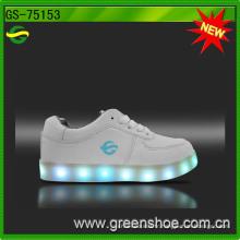 Chaussures chaudes de lumière d'adultes de mode de vente décontractée pour le mâle