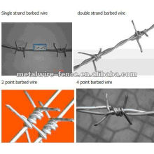 Alambre de púas / alambre de púas galvanizado / alambre de púas para la venta de la fábrica de Iso