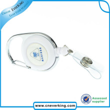 Round Retractable Pull Reel with Logo