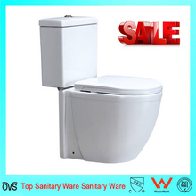 Ceramic Bathroom White Color Two Piece Ceramic Toilet