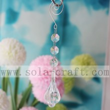 Popular Design for Beaded Prism Trimming Clear Crystal Lamp Chandelier Prism Drop With Octagon Bead export to Myanmar Supplier