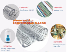 PVC suction hose, PVC Steel Wire Hose Soft Light and Long Usage Life