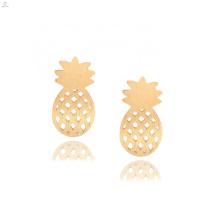 Delicate Gold Plated Polish Fruit Stud Pineapple Earrings