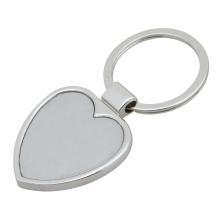 Llavero en forma de corazón, llavero en blanco personalizado (GZHY-KA-013)