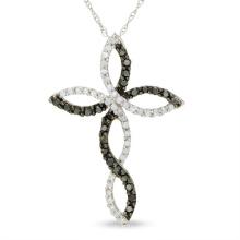 Jóias de moda 925 colar de prata cruz pingente colar jóia CZ