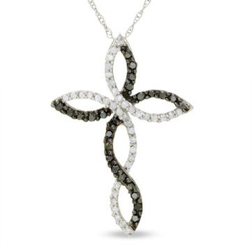 Modeschmuck 925 Silber Kreuz Anhänger Halskette CZ Schmuck