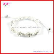 2013 Hotspot Fashion Shamballa Bracelet with Rhinestone Metal Skull