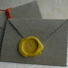Envelope adhesive faux wax seal stickers